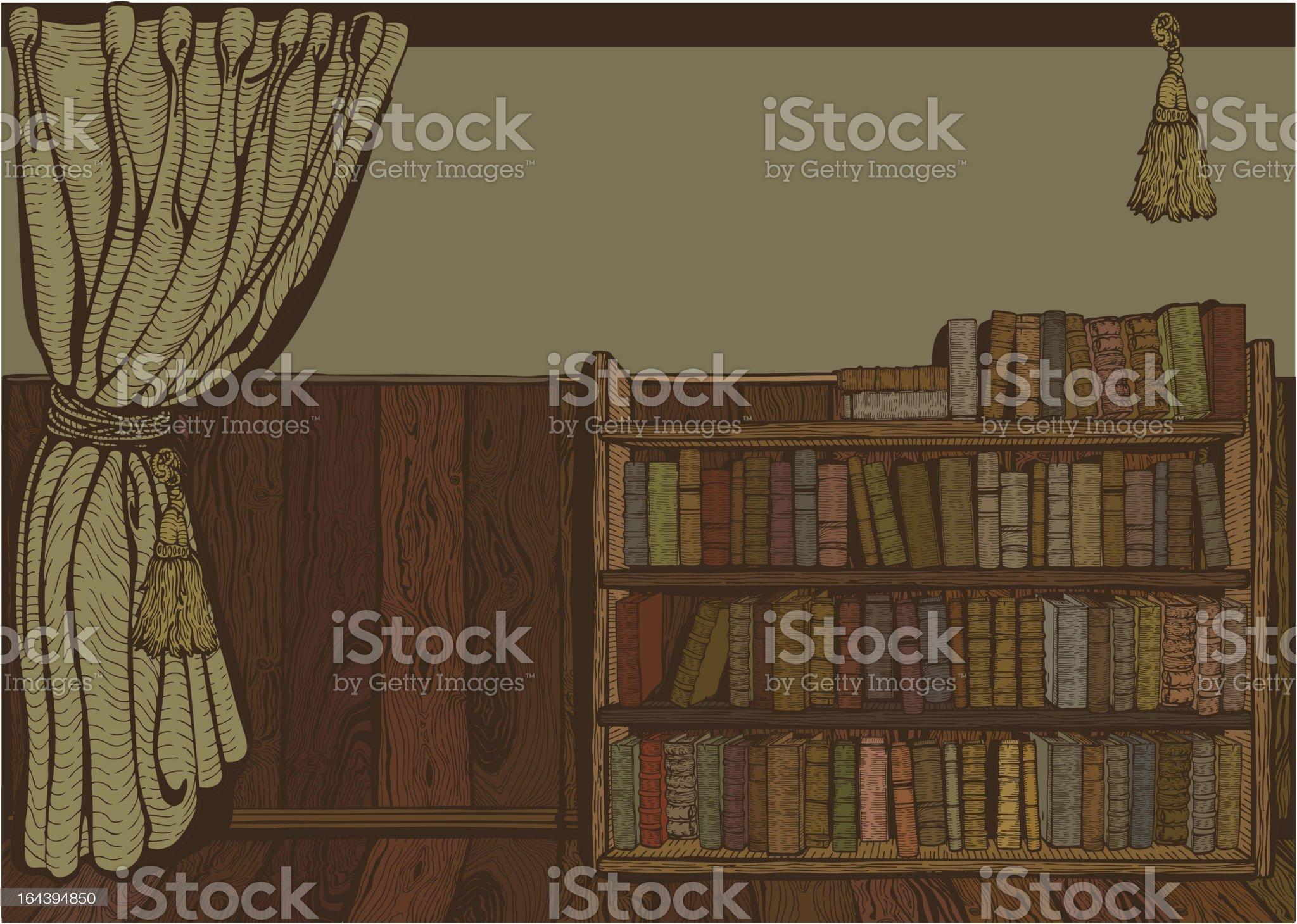 Reading room. royalty-free stock vector art