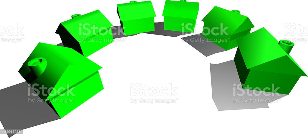 Real Estate Houses Concept royalty-free stock vector art
