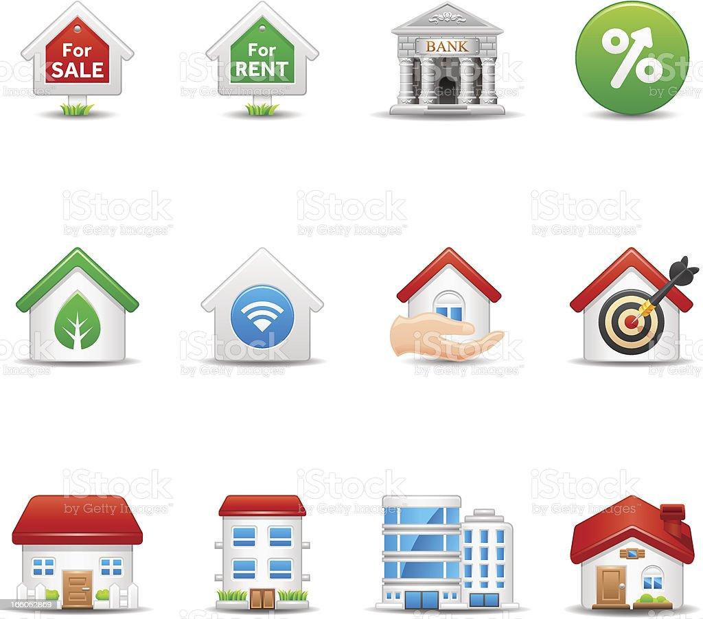 Real Estate Icon Set - Elegant Series vector art illustration