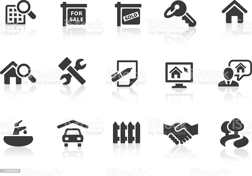 Real Estate icons 1 vector art illustration