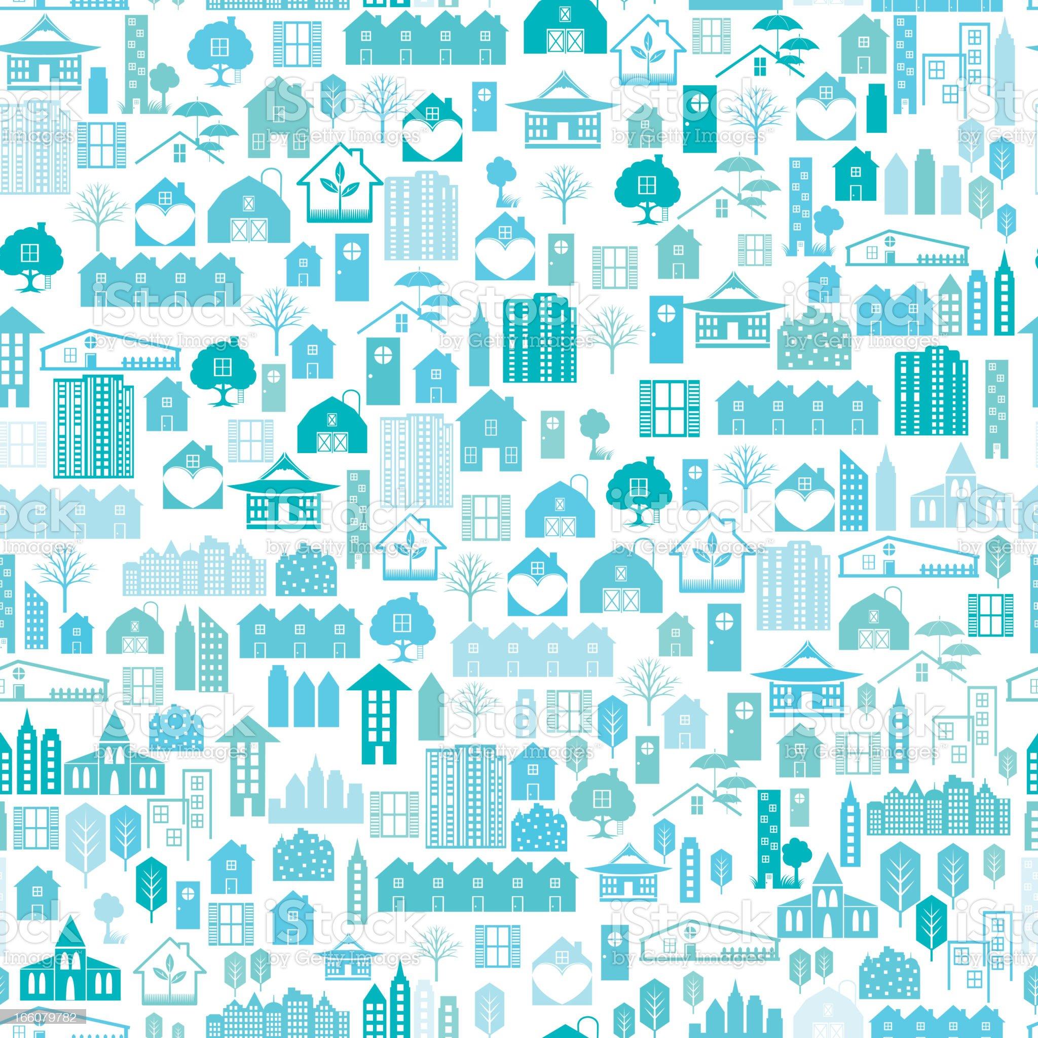 Real Estate Seamless pattern Vector Illustration royalty-free stock vector art
