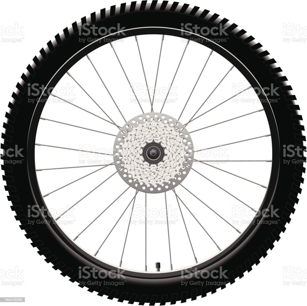 Rear Bicycle Wheel royalty-free stock vector art