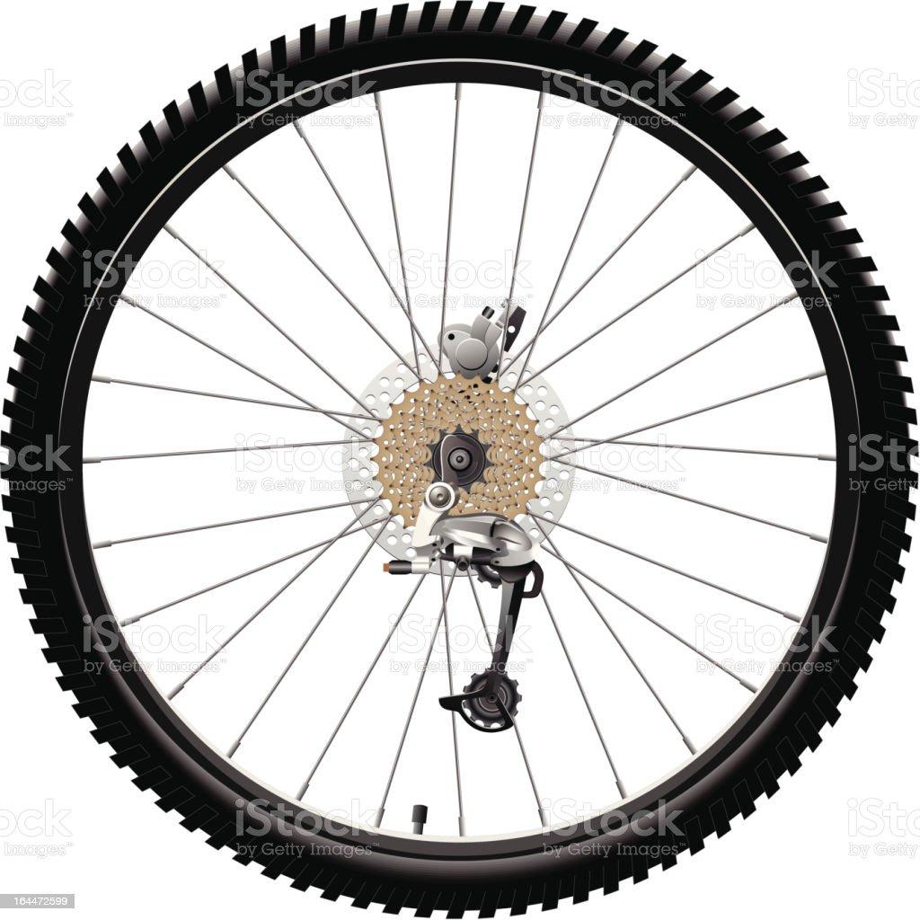 Rear Bicycle Wheel vector art illustration