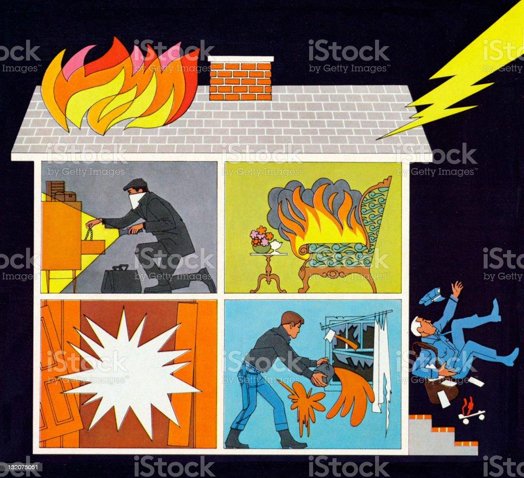 Reasons You Need Insurance House royalty-free stock vector art