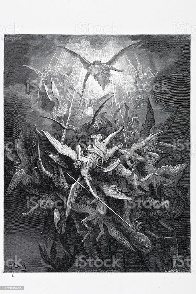 Rebel Angels vector art illustration