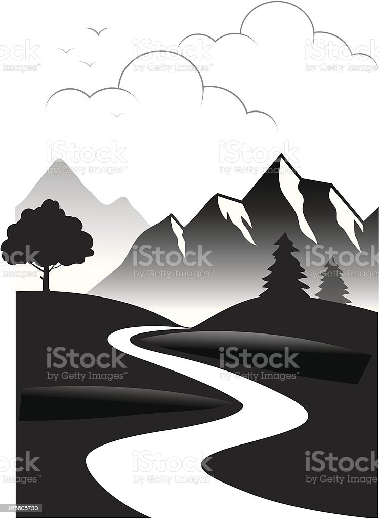 Receding road royalty-free stock vector art
