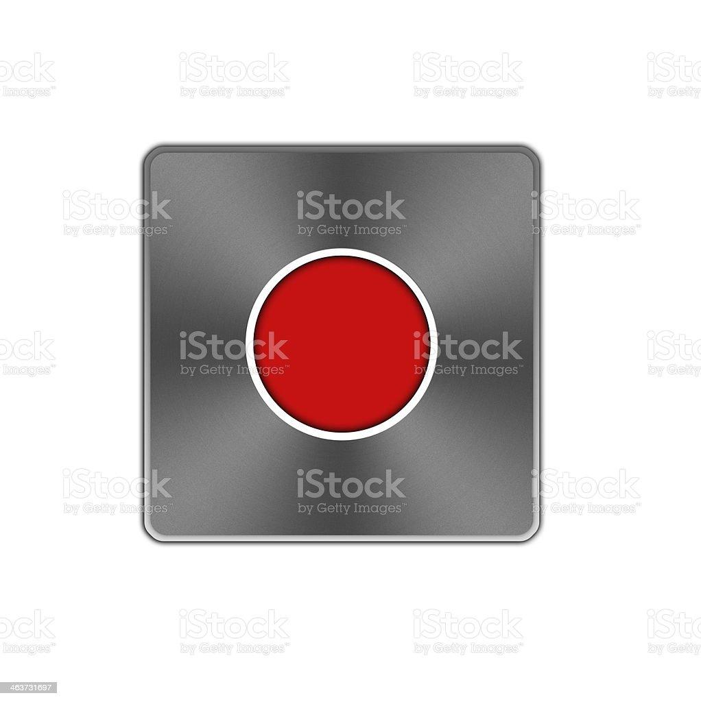 Record button icon. royalty-free stock vector art