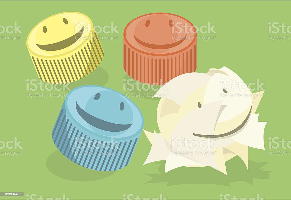 Recyclable friends royalty-free stock vector art