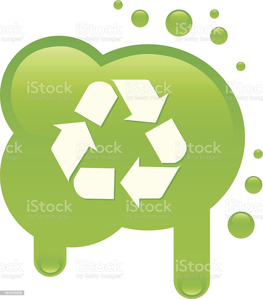 Recycle icon on a blot royalty-free stock vector art