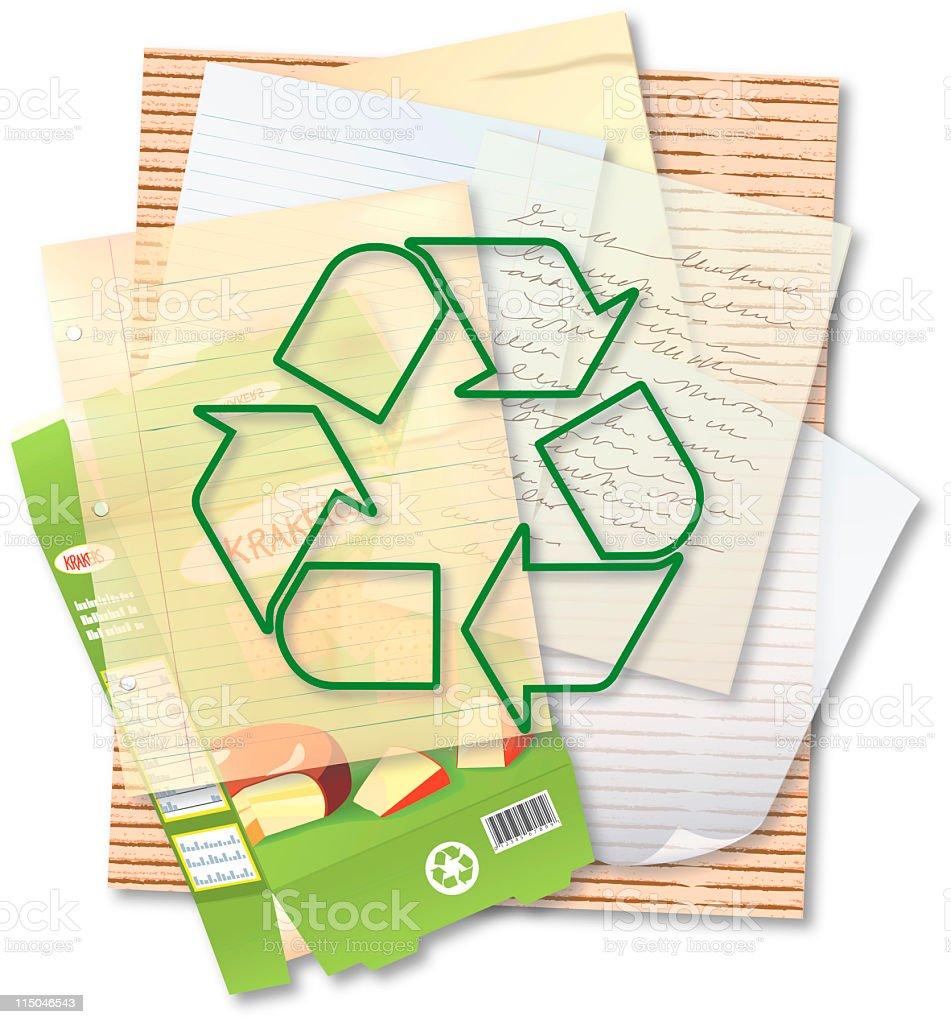 Recycle Paper & fibers vector art illustration