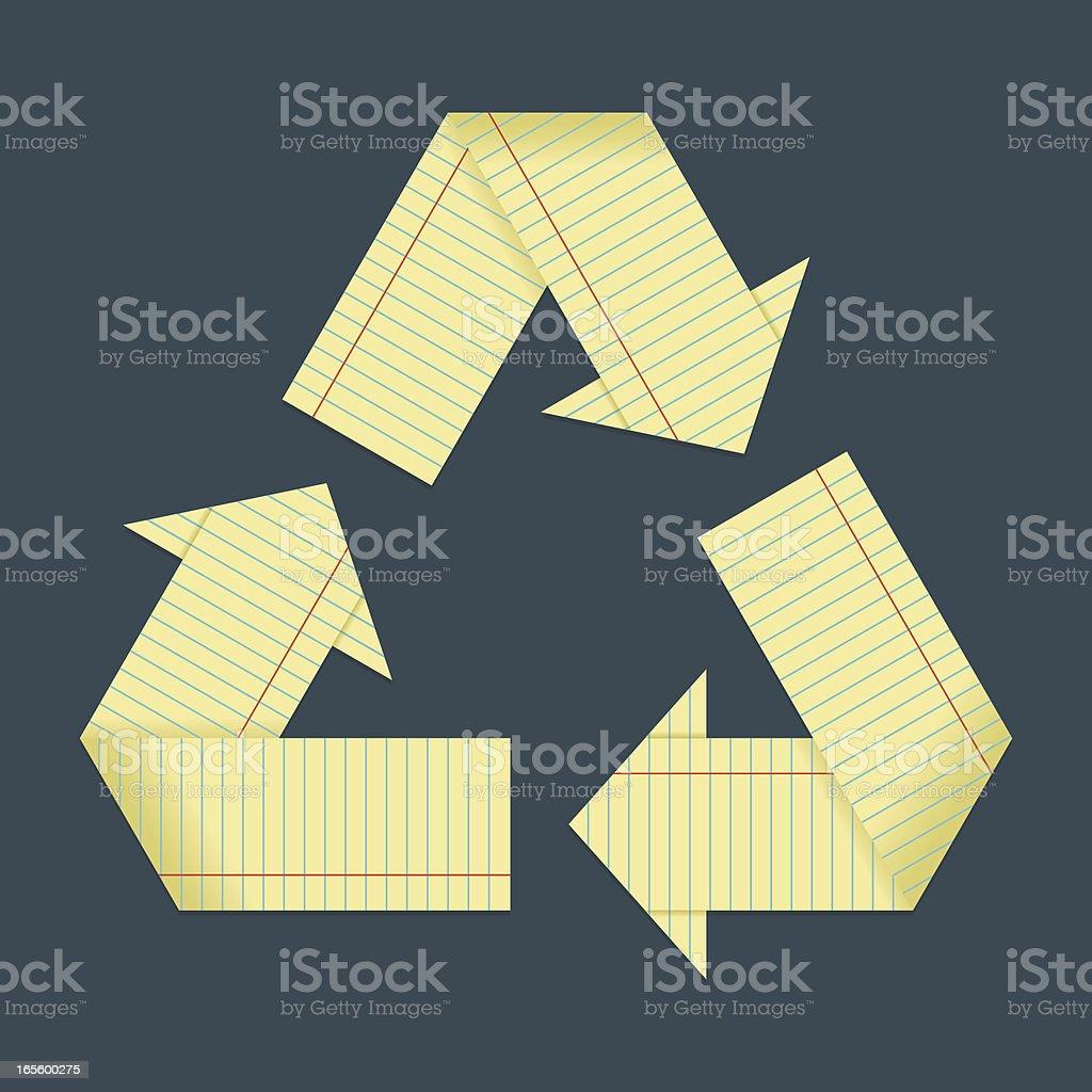 Recycle School Paper royalty-free stock vector art