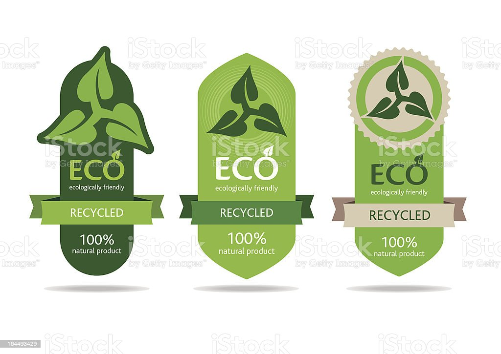 Recycle symbol and label royalty-free stock vector art