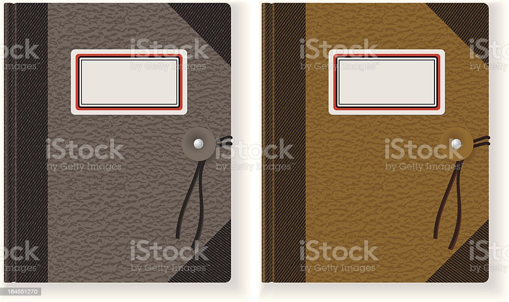 Recycled Note Pad vector art illustration
