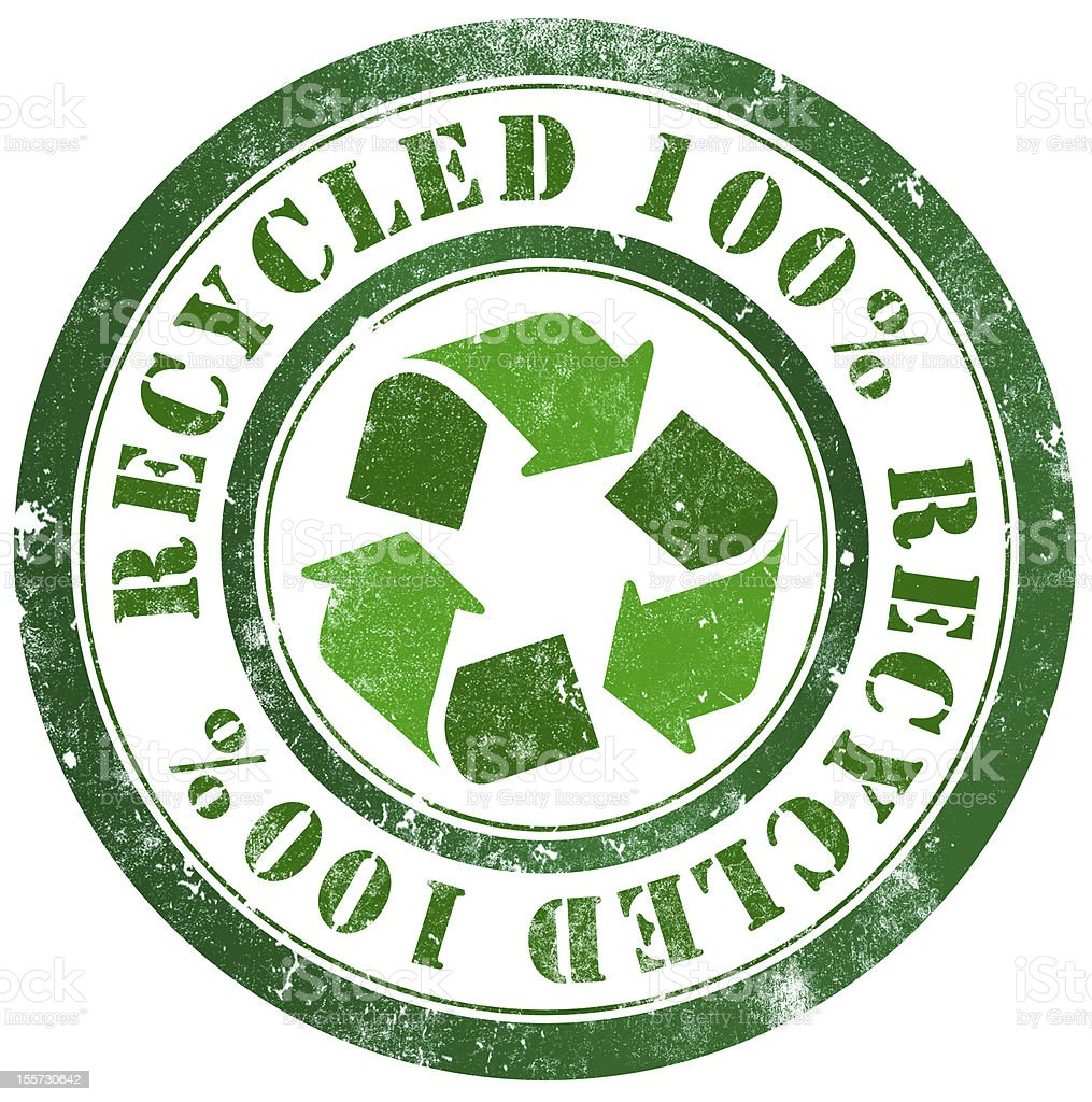 Recycled stamp royalty-free stock vector art