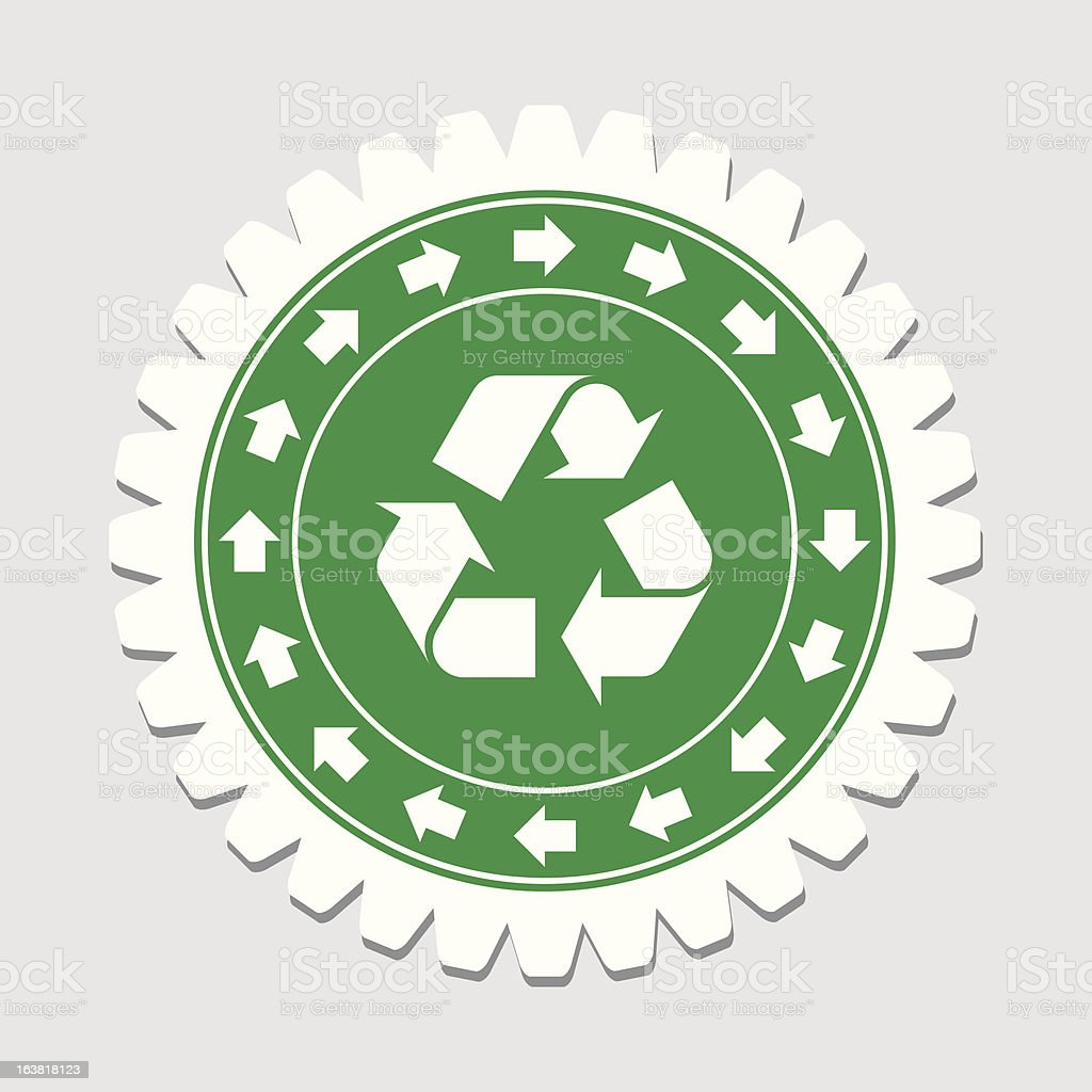 Recycling Sign Label royalty-free stock vector art