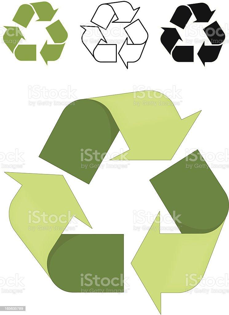 Recycling Symbol royalty-free stock vector art