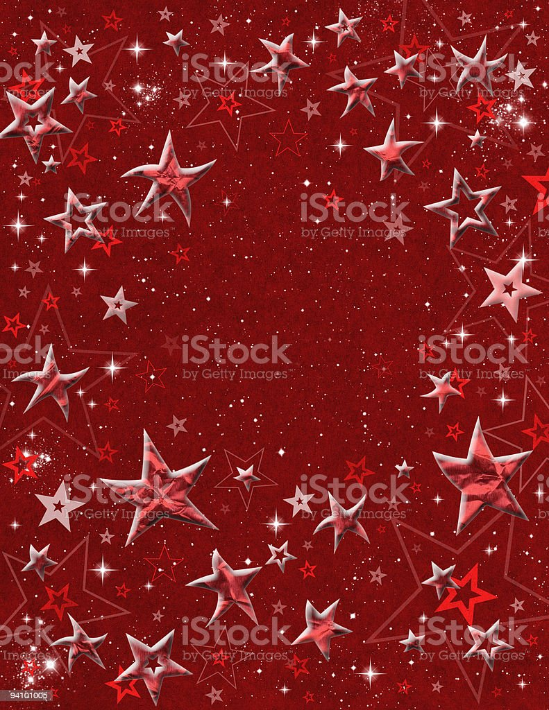 Red 3-D Stars royalty-free stock vector art