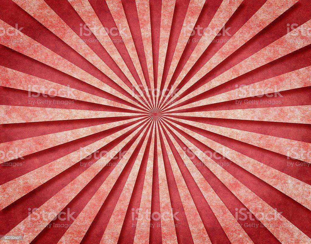 Red 3-D Sunbeams royalty-free stock vector art