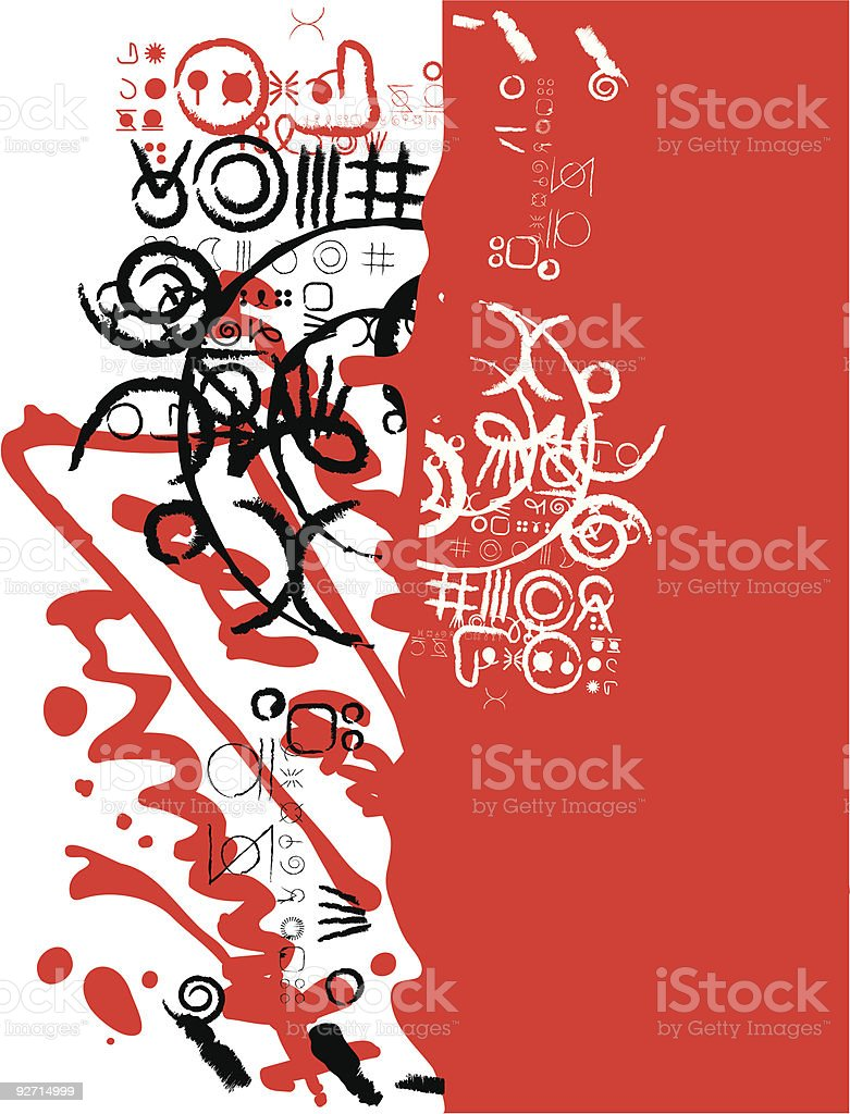 Red abstraction royalty-free stock vector art