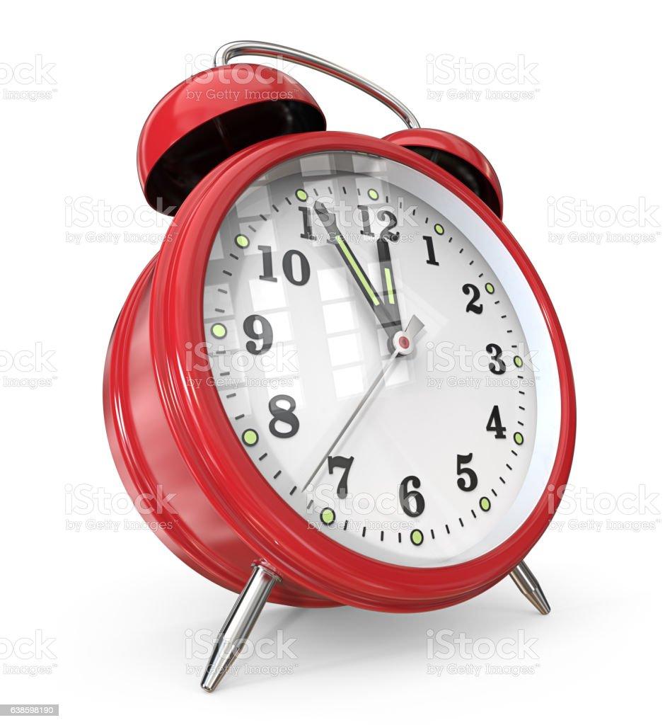 Red Alarm Clock. vector art illustration