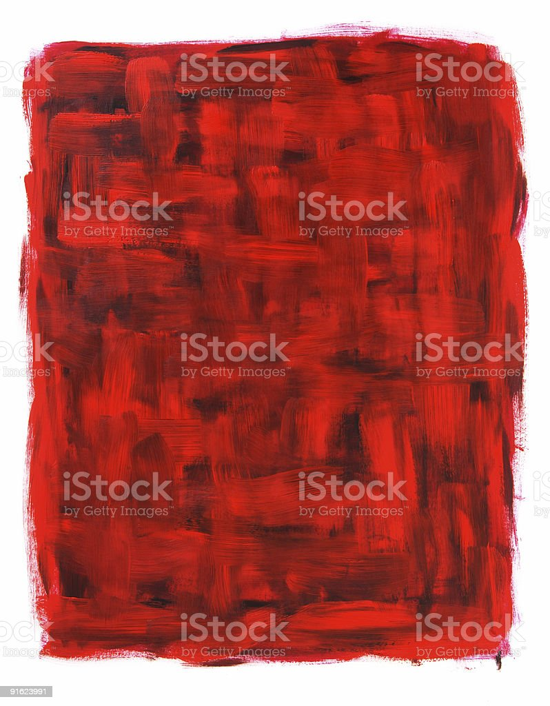 Red and black abstract oil painting royalty-free stock vector art