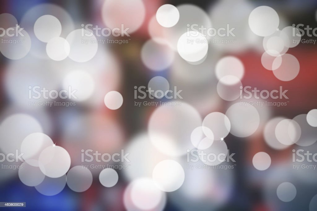 Red and blue abstract background - bokeh. vector art illustration