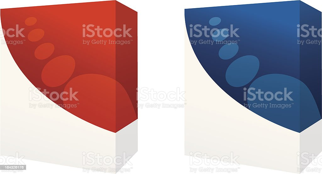 red and blue boxes royalty-free stock vector art