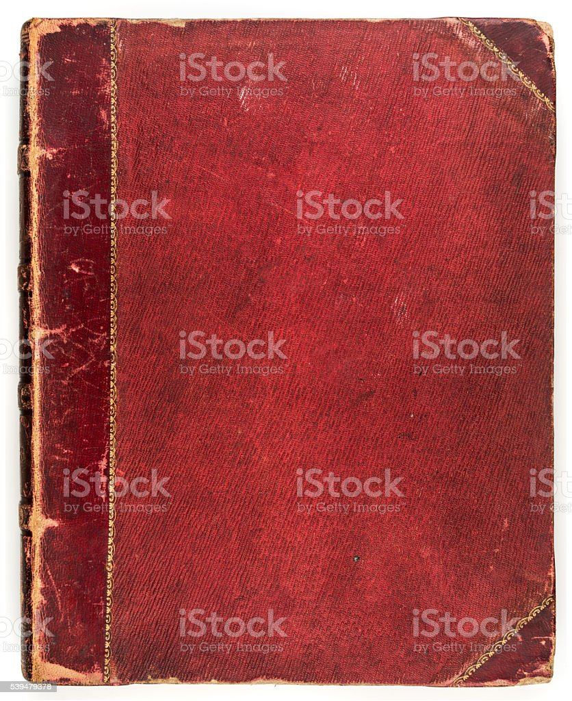 Red antique book vector art illustration