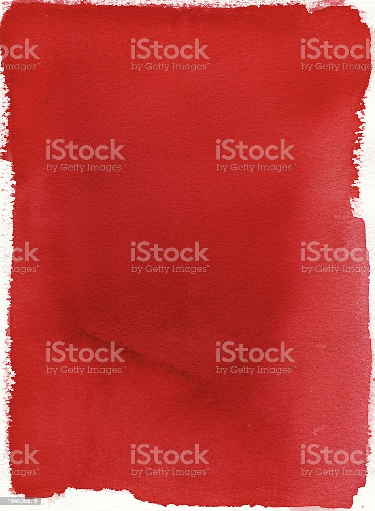 Red Background Watercolor Painting vector art illustration
