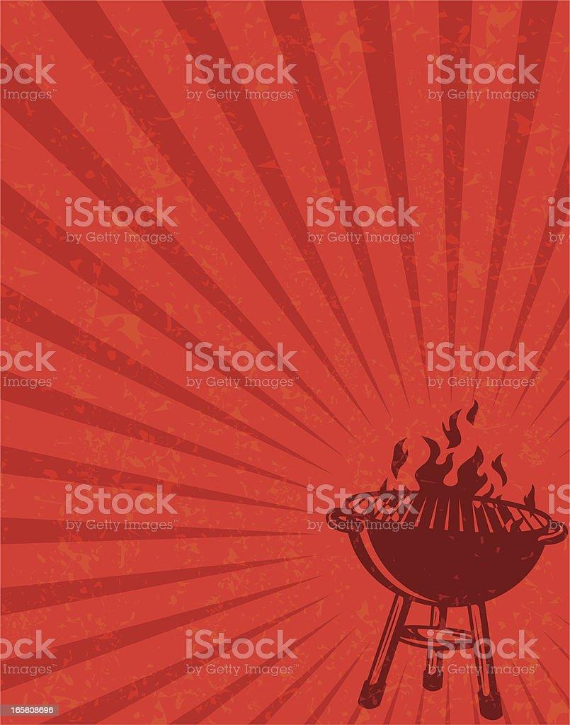 red bbq flier royalty-free stock vector art