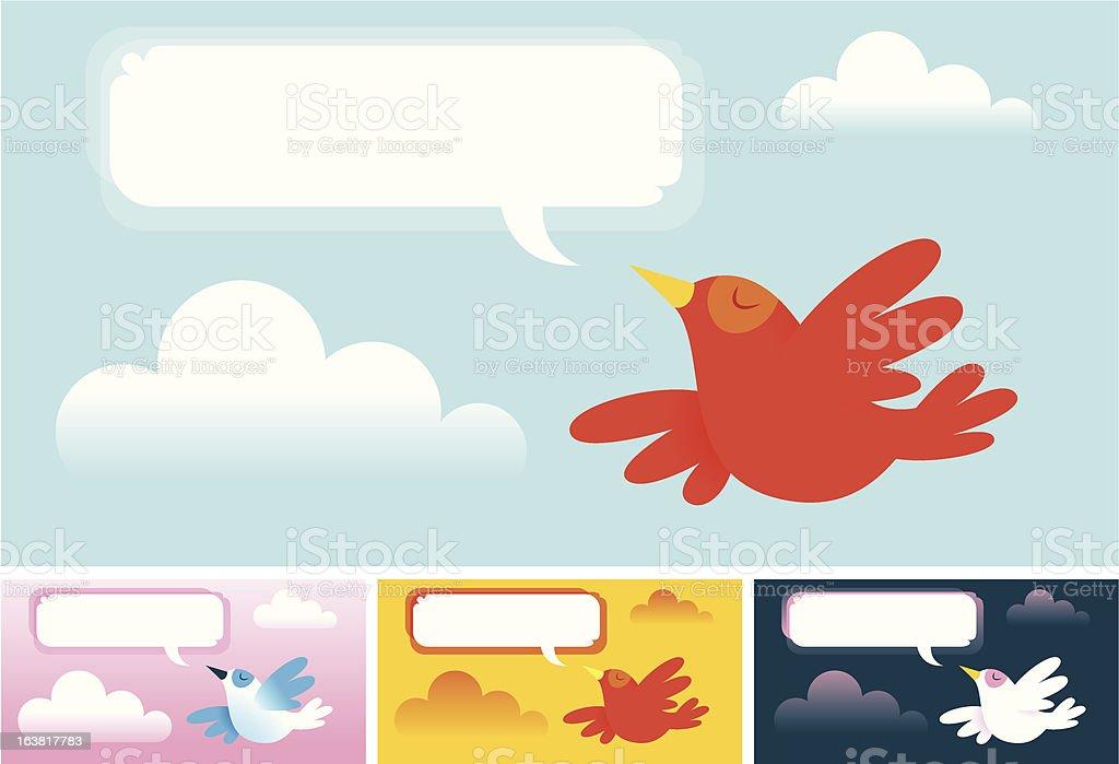 Red Bird bannière stock vecteur libres de droits libre de droits