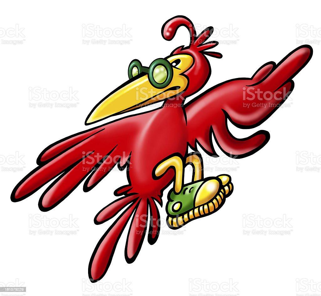 red bird royalty-free stock vector art