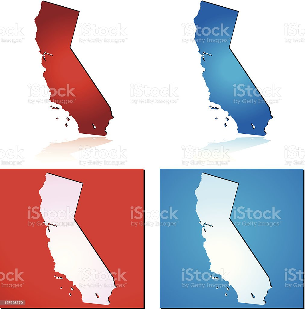 Red Blue California royalty-free stock vector art