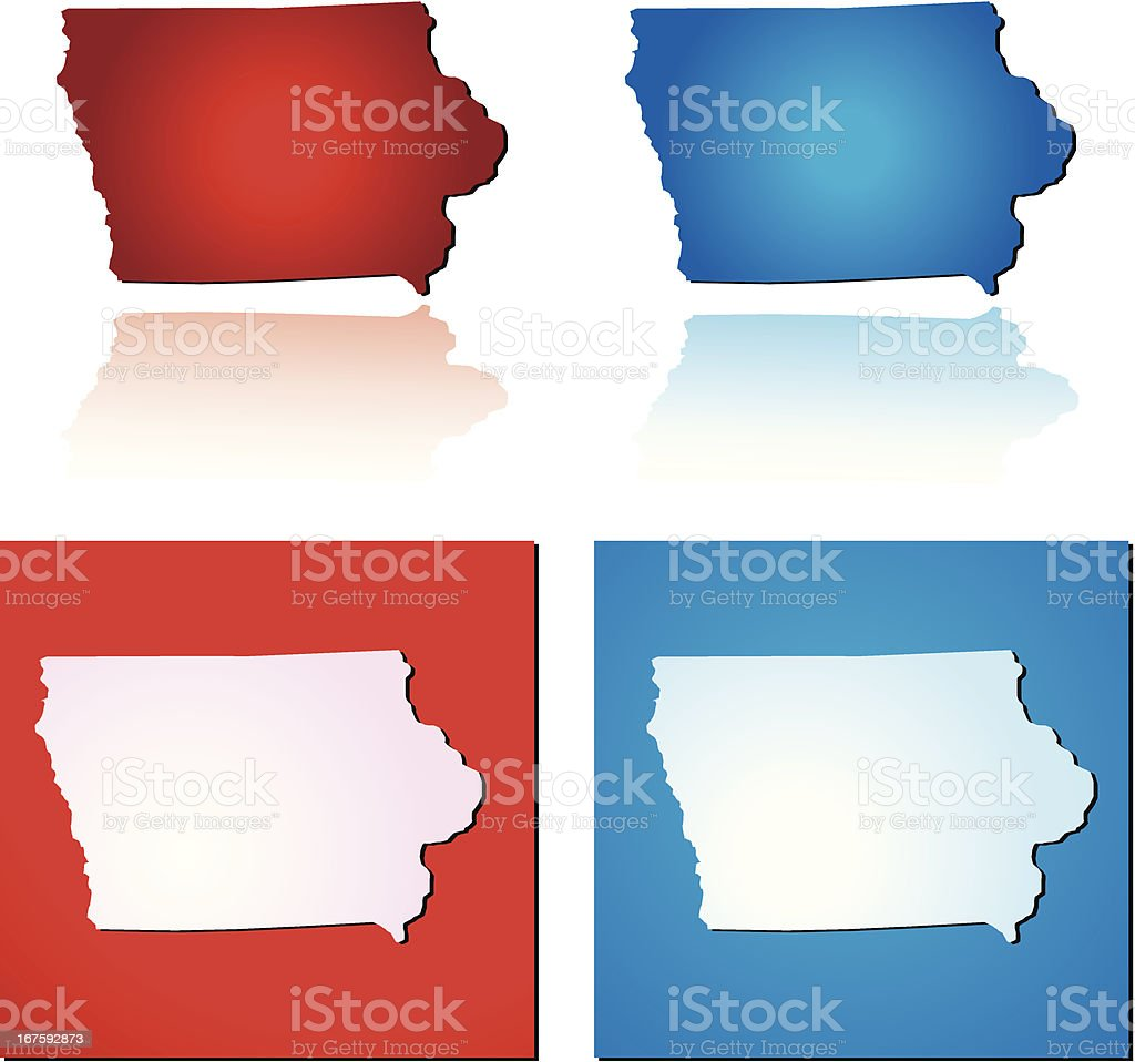 Red Blue Iowa royalty-free stock vector art