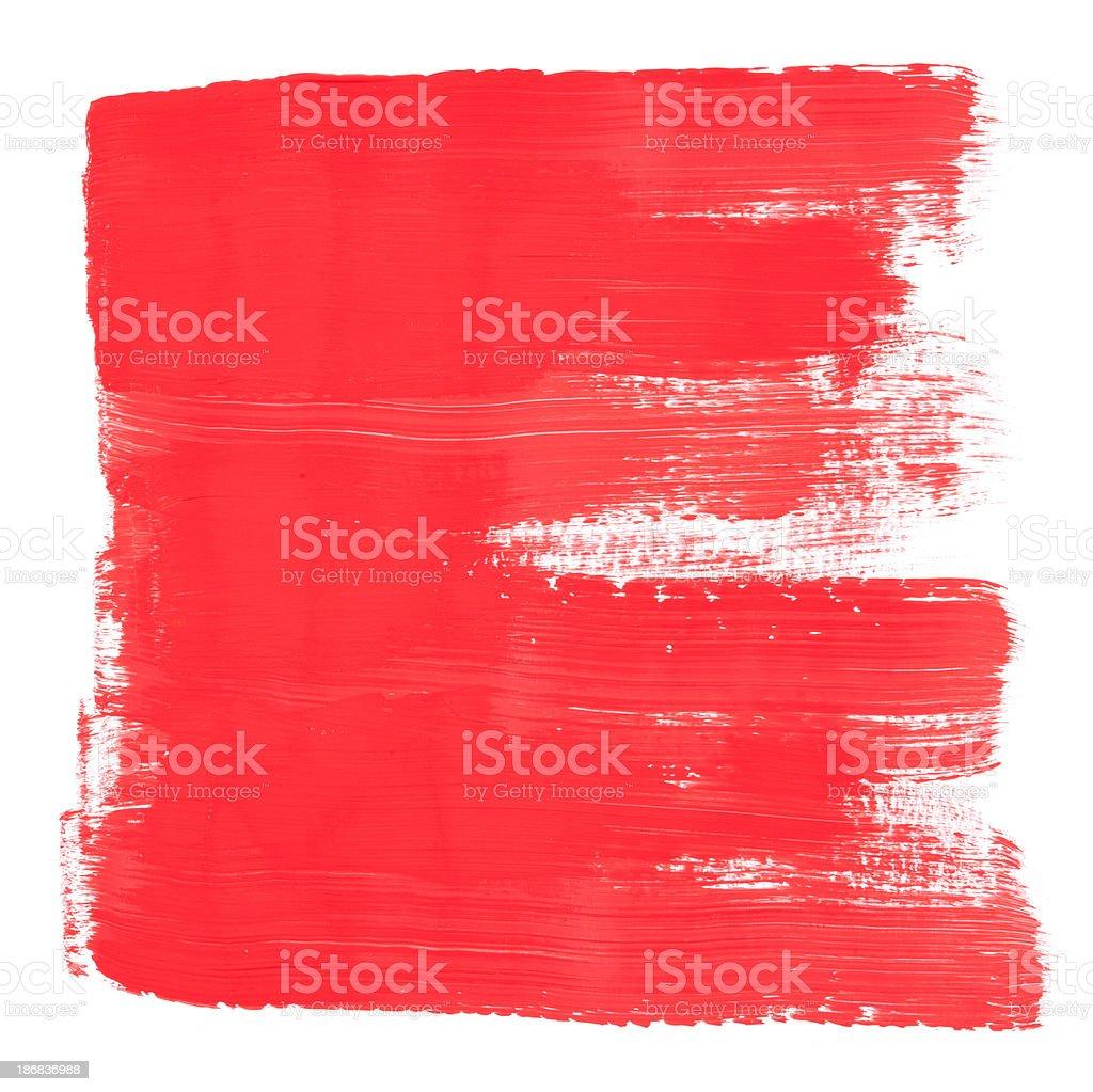 Red Brush Painted Frame Texture vector art illustration