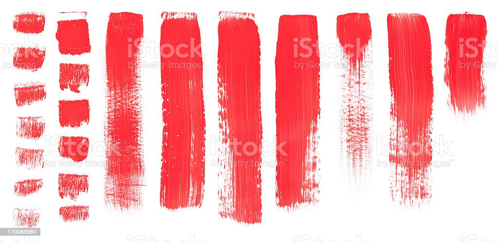 Red Brush Painted Texture vector art illustration
