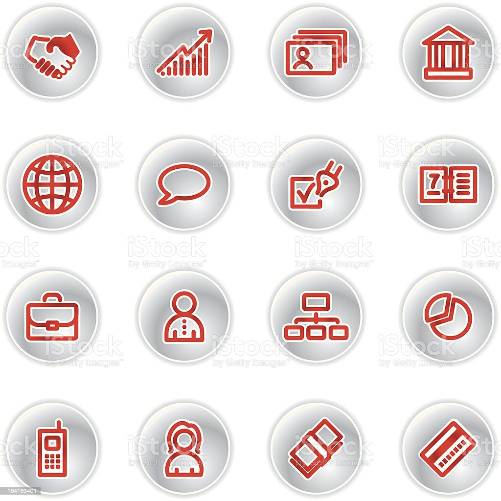 red business icons royalty-free stock vector art