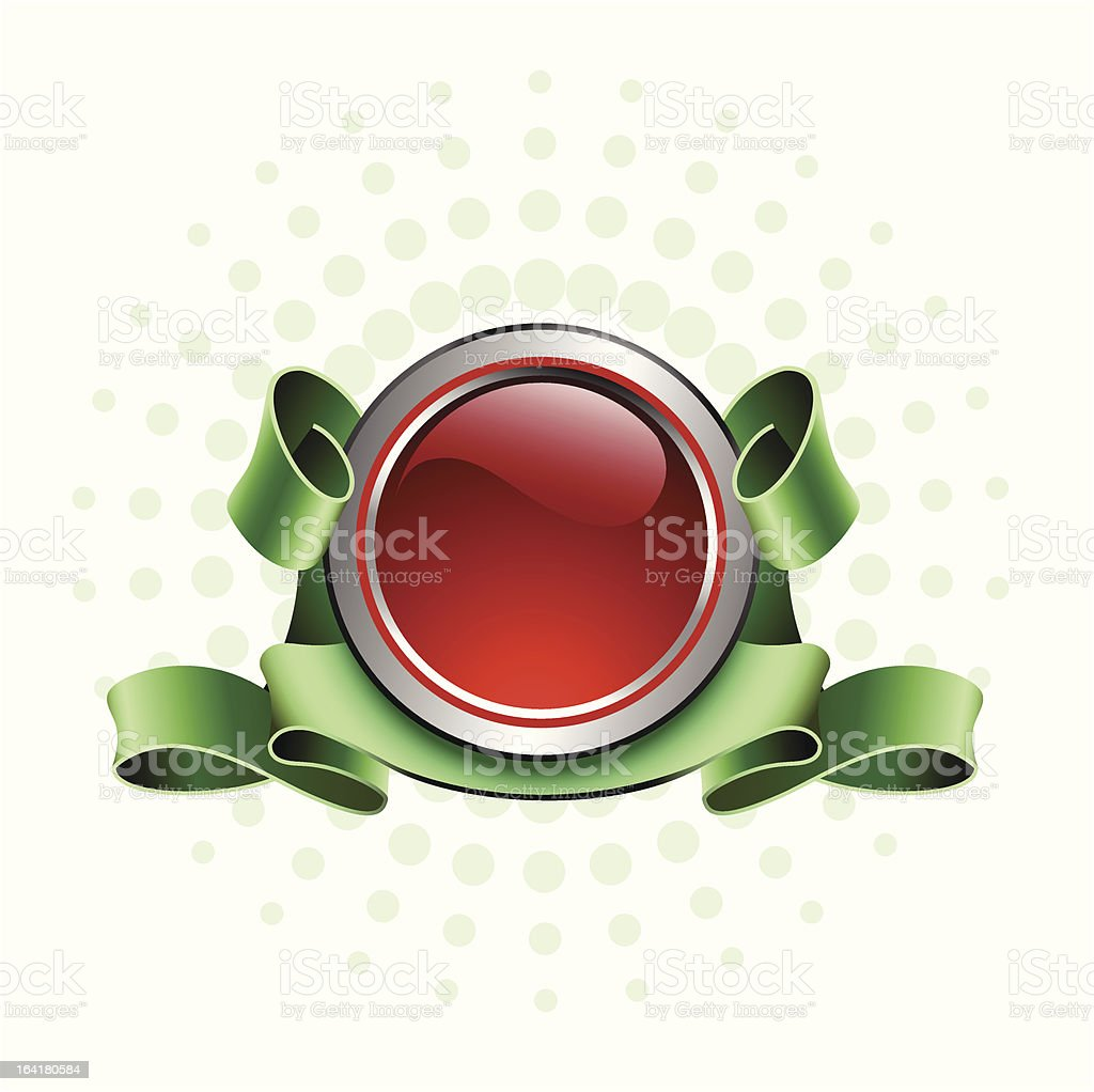 red button royalty-free stock vector art