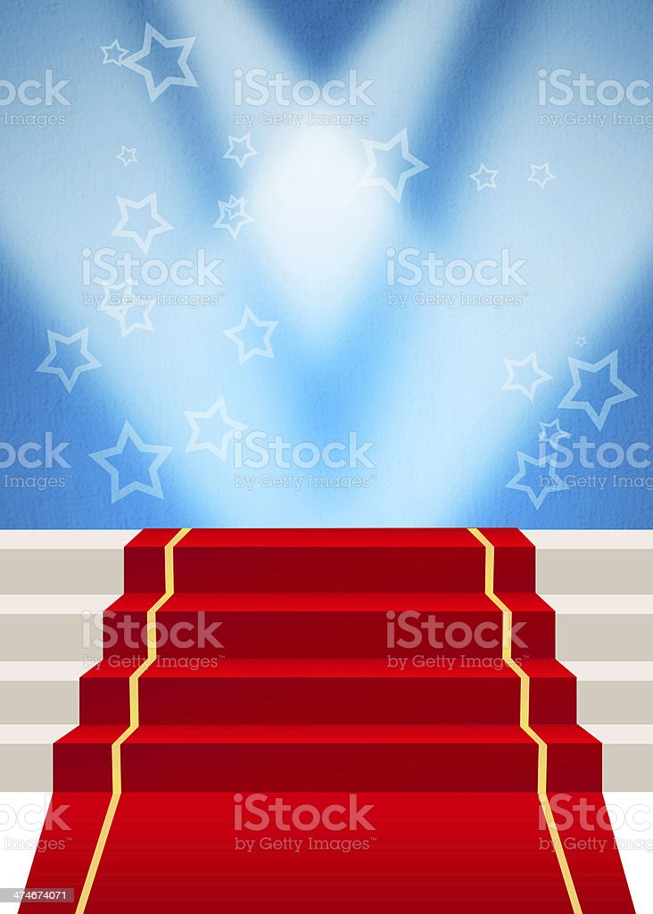 Red carpet royalty-free stock vector art