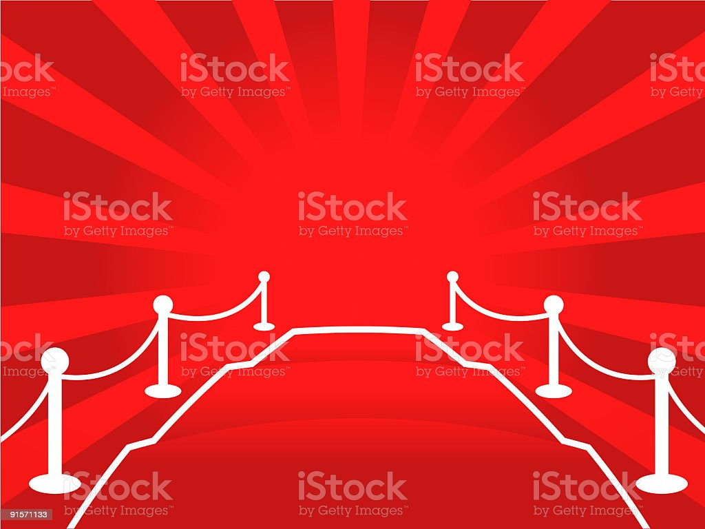 Red Carpet (Vector) royalty-free stock vector art