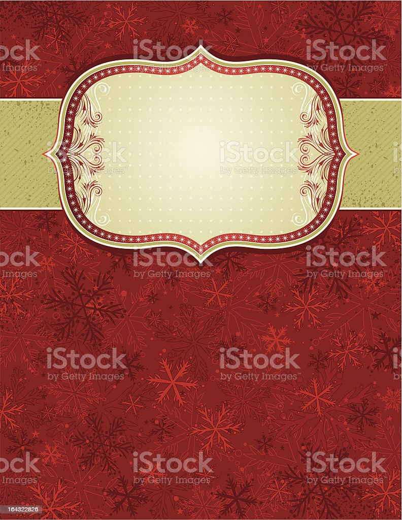 red christmas background, vector royalty-free stock vector art