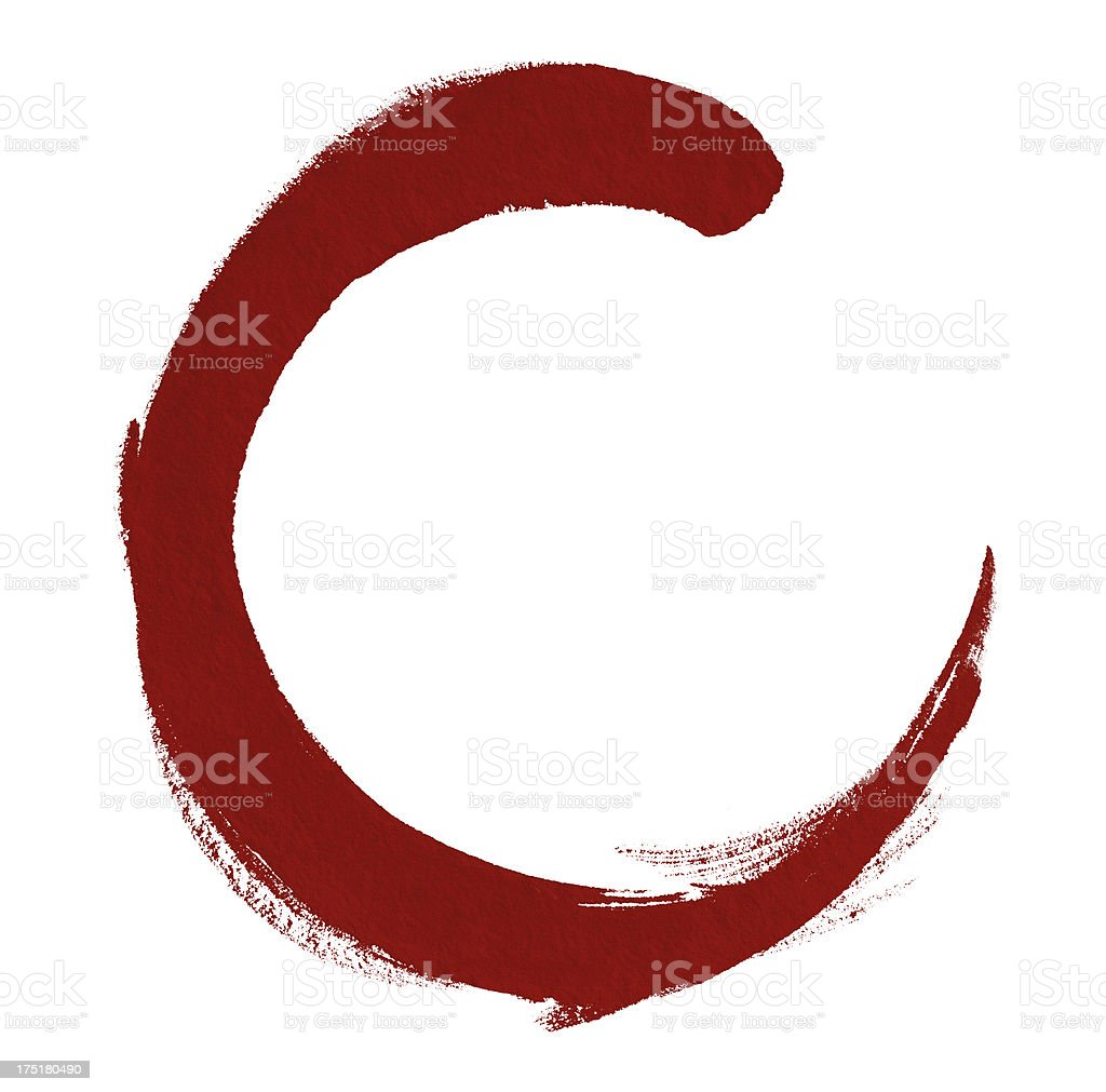 Red Circle (Clipping Path) royalty-free stock vector art