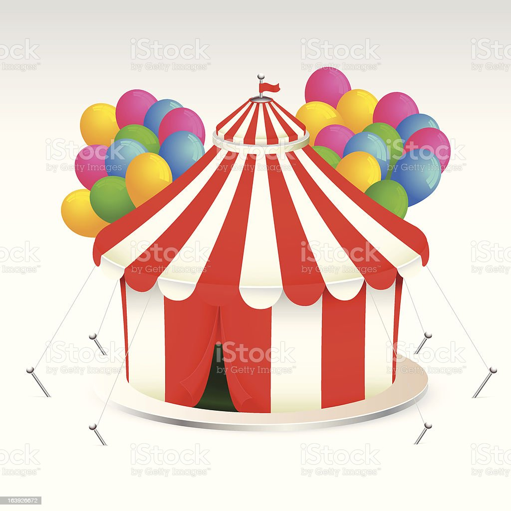 Red Circus Tent royalty-free stock vector art