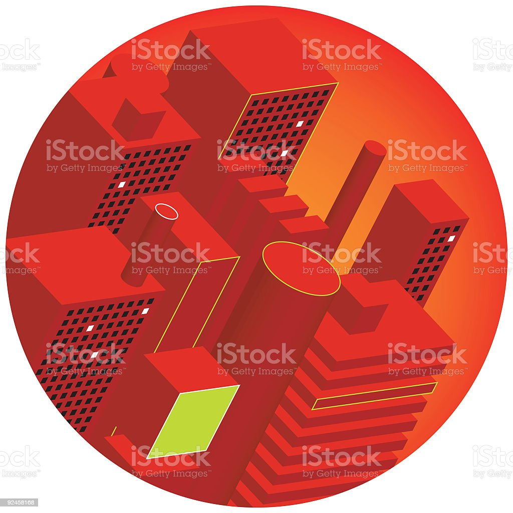 red city royalty-free stock vector art