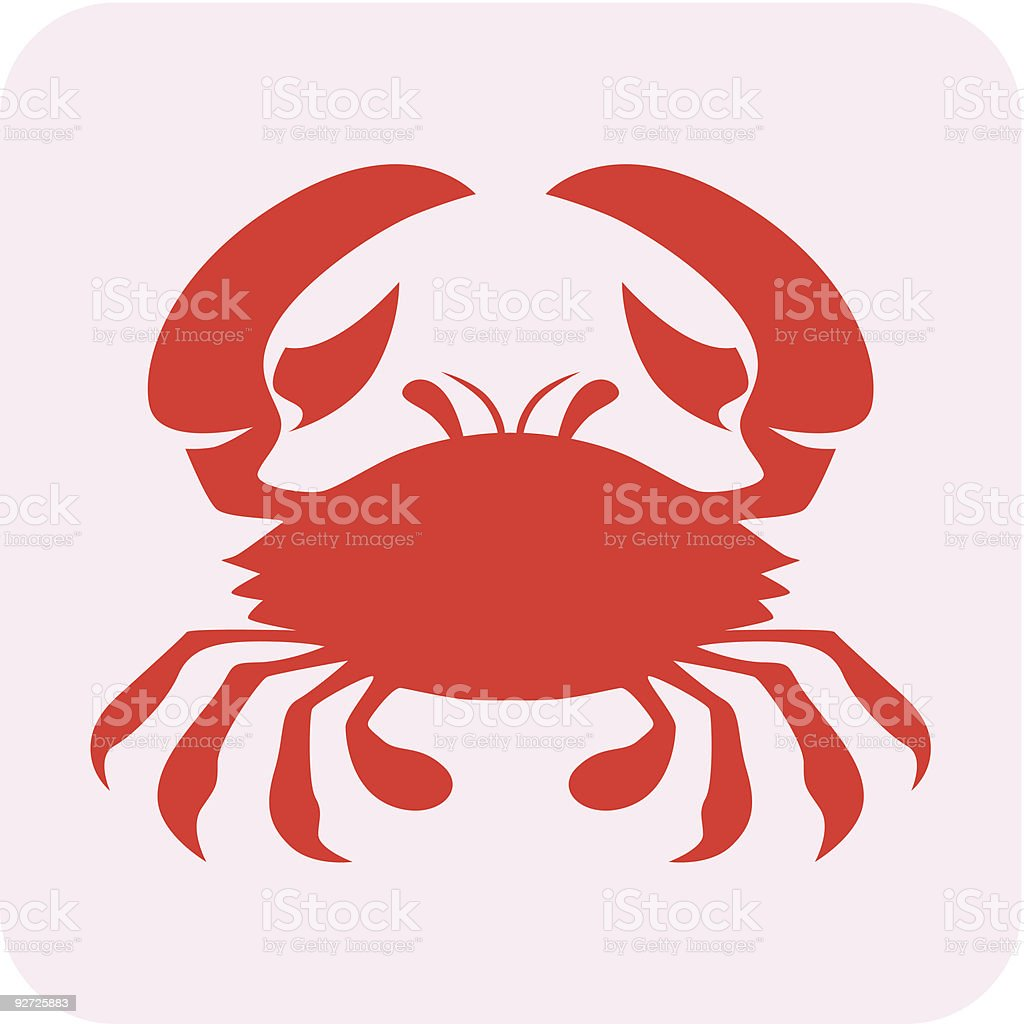 Red Crab royalty-free stock vector art