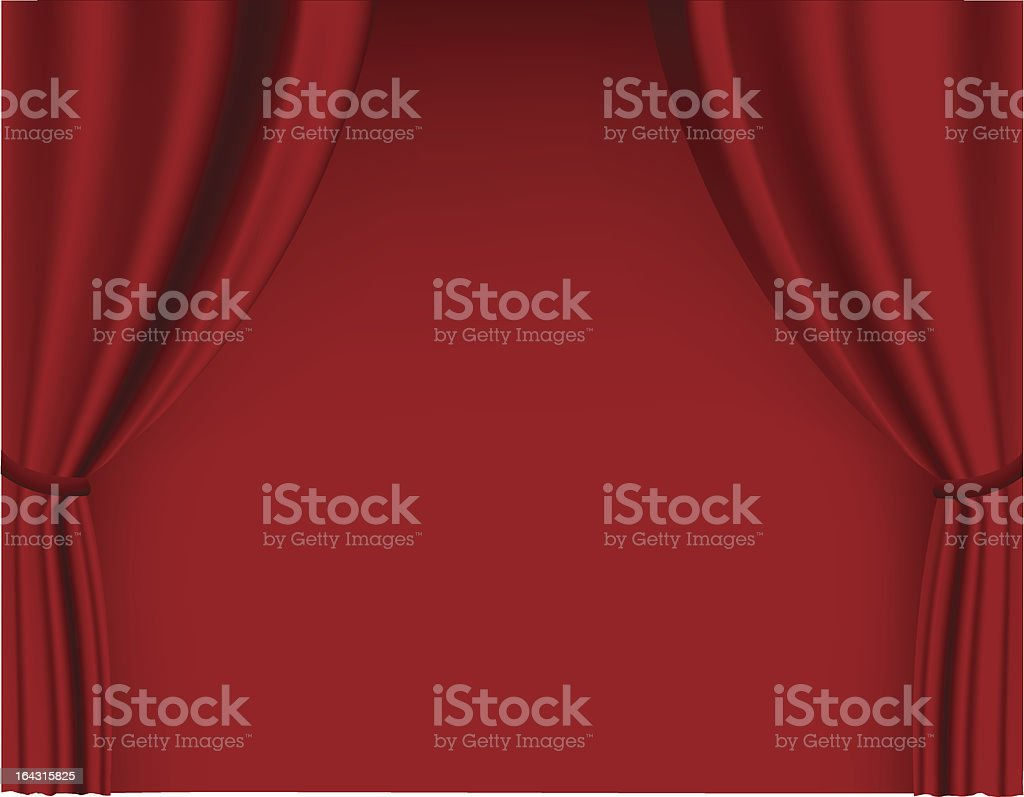 Red curtain in theater. royalty-free stock vector art