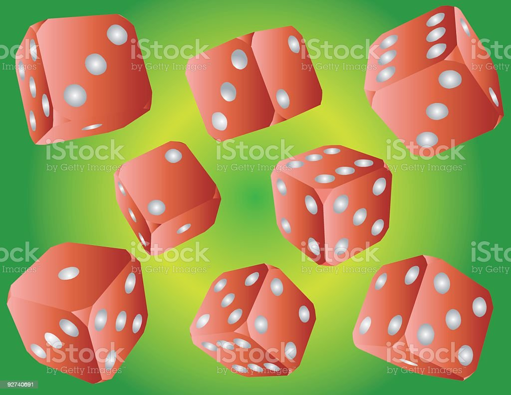 Red Dice (Vector) royalty-free stock vector art