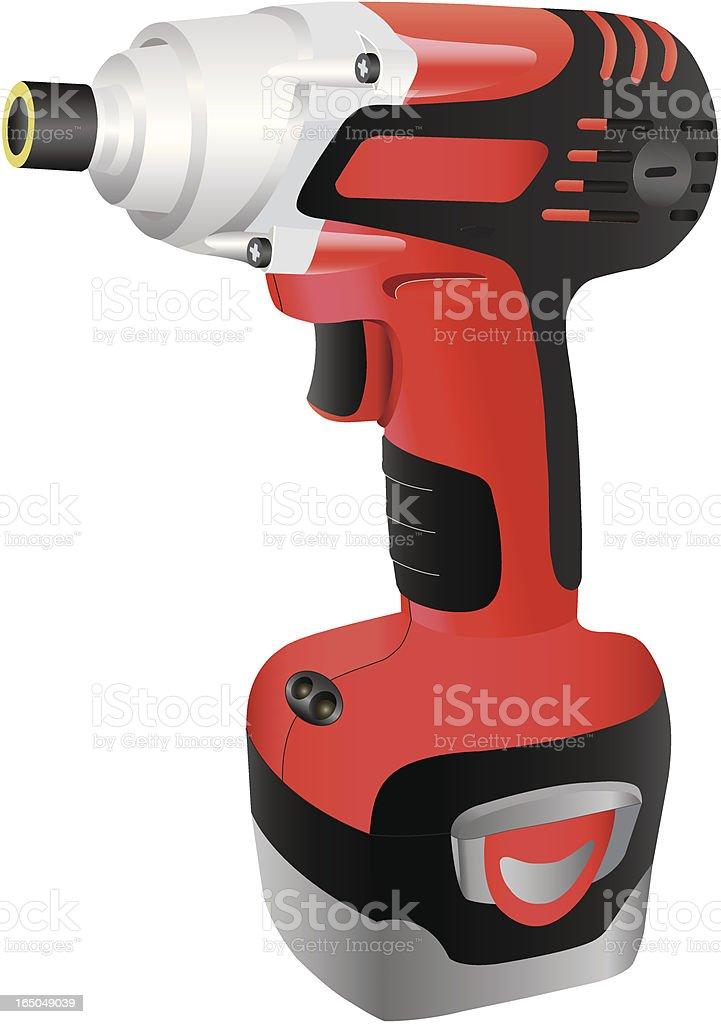 Red Drill vector art illustration