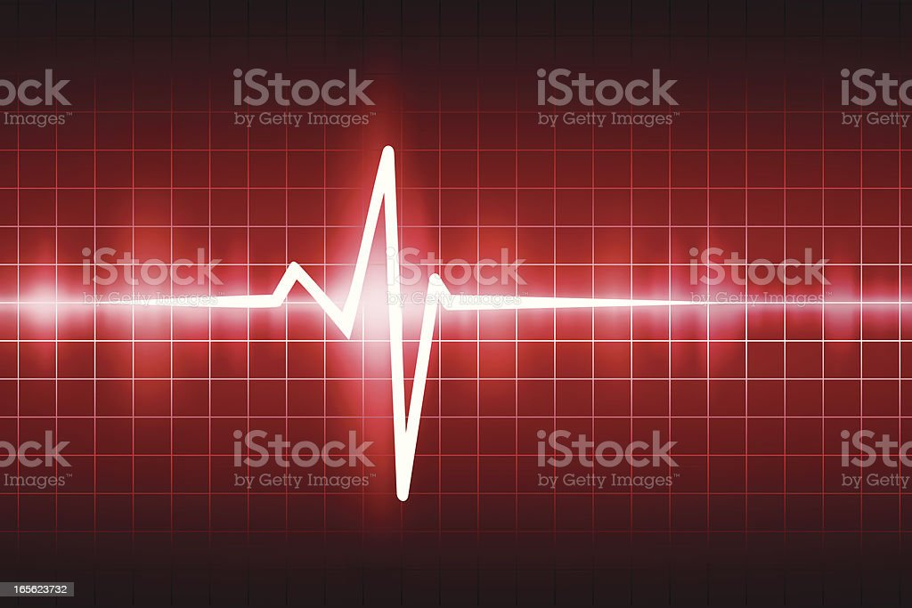 Red ekg tracing royalty-free stock vector art