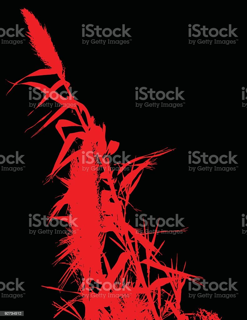 Red floral royalty-free stock vector art
